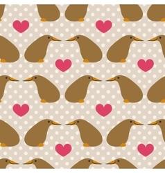 Seamless pattern with cute cartoon kiwi on grey vector image