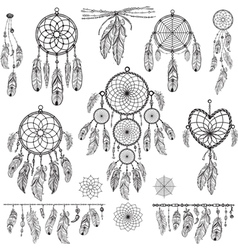Set of Dreamcatchers vector image vector image