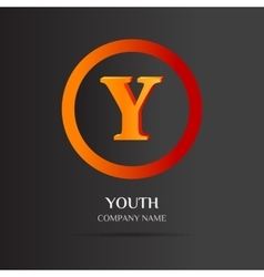 Y Letter logo abstract design vector image vector image