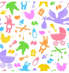 baby items pattern vector image vector image