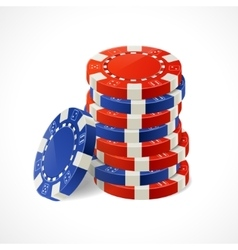 Casino Chips Stacks vector image vector image