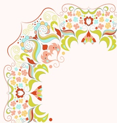Element with lacy frame vector image vector image