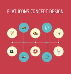 flat icons faucet restroom stop sign and other vector image vector image