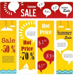 summer sale tags set with speech vector image vector image