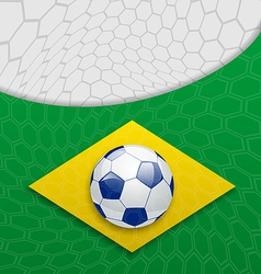 Abstract brazilian background with ball vector image