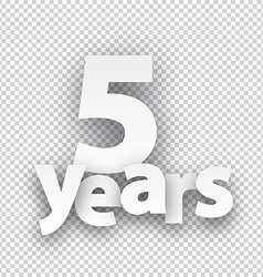 Five years paper sign vector image vector image
