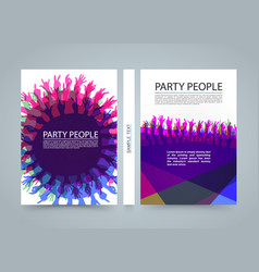 modern colorful vertical music party banners vector image