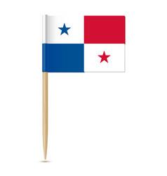panama flag flag toothpick 10eps vector image