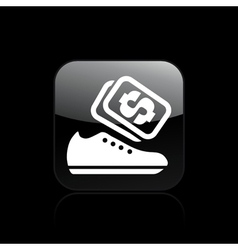 shoes store icon vector image vector image