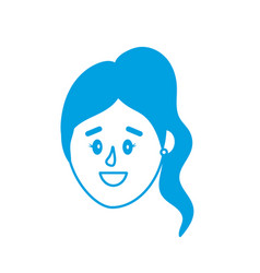 silhouette avatar woman head with hairstyle design vector image vector image