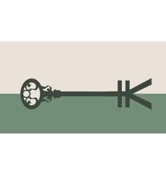 Yen Symbol on key vector image