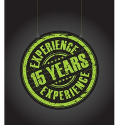 15 years experience vector image