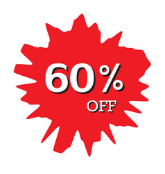 60 off discount price tag abstract price tag vector