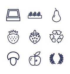 9 organic icons vector