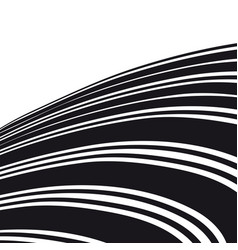 abstract background black and white curve lines vector image