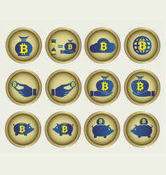 abstract beatcoin sign set vector image
