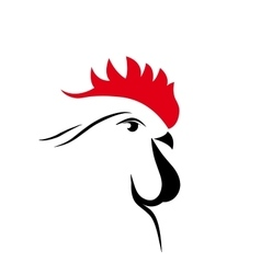 abstract cock 2017 isolated vector image vector image