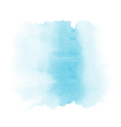 Abstract light blue gradient watercolor stain on vector