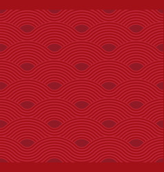 Abstract wave pattern red ripple background flat vector