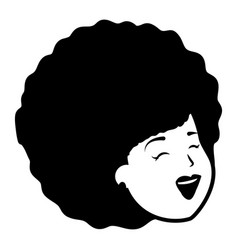 african american woman face vector image