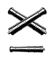 Ancient cannon design element for logo label sign vector