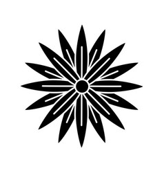 Black beauty flower decoration vector