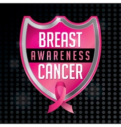 Breast Cancer Awareness Badge and Ribbon vector