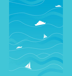 bright blue cover annual report or booklet vector image