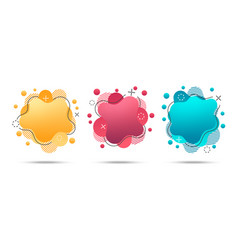 bright trendy liquid style banners vector image