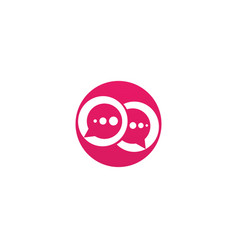 bubble chat logo vector image