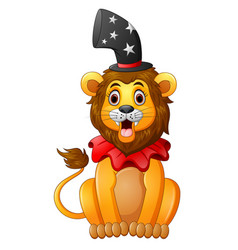 cartoon lion circus vector image