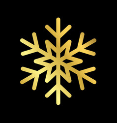 christmas snowflake isolated vector image