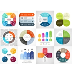 circle arrows stripe infographics set vector image