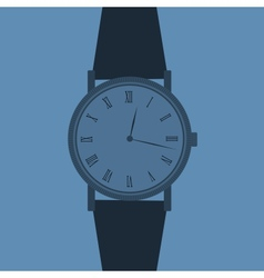 Classic Analog Mens Wrist Watch vector image