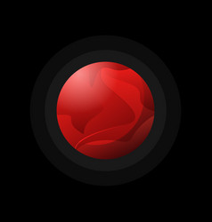 dark red planet flat style vector image