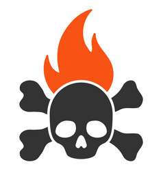 death fire flat icon vector image