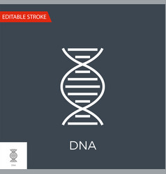 dna related thin line icon vector image