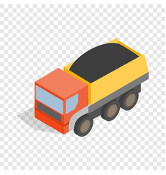 Dump truck isometric icon vector