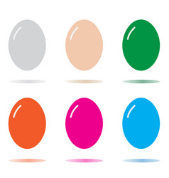 egg icon isolated on white background egg sign vector image