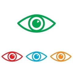 Eye sign Colorfull set vector image