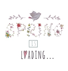 Floral elements of vintage Phrase Spring is vector