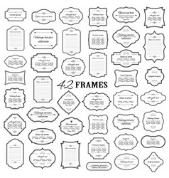 frames and borders mega set isolated on white vector image