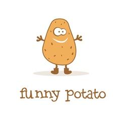 funny potato vector image