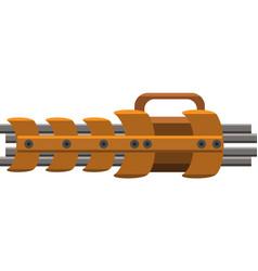 Gatling gun vector