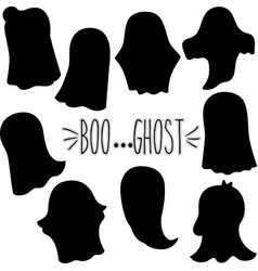 ghost silhouette vector image