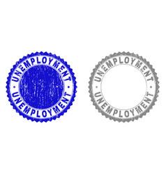 grunge unemployment textured stamp seals vector image