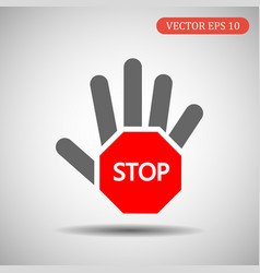 hand-stop icon eps 10 vector image