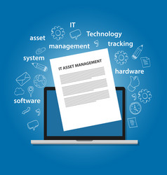 It asset management or itam concept of managing vector