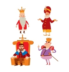 Kings cartoon set vector