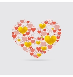 Light Heart Shape vector image